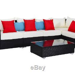 13PC Outdoor Patio Rattan Wicker Sofa Set Garden Furniture Cushioned Seat