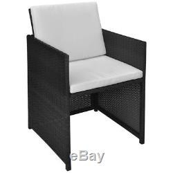 27pcs Patio Rattan Wicker Garden Dining Set Outdoor Chairs Table 3 Colors
