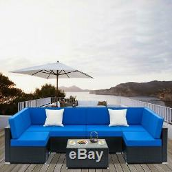 2/5/ 7PCS Rattan Wicker Sofa Set Outdoor Patio Furniture Sectional Couch Cushion