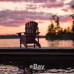 2 PCS Outdoor Wood Adirondack Chair Garden Furniture Lawn Patio Deck Folding