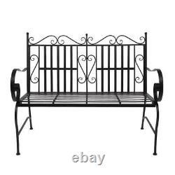 2 Person Patio Furniture 44.5 inch Double Sofa Chair Garden Bench Outdoor