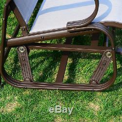 2 Person Patio Glider Porch Swing Outdoor Garden Bench Rocking Chair Furniture