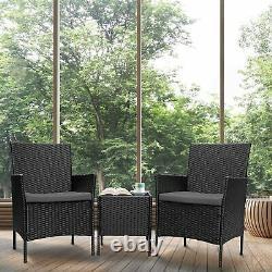 3PCS Wicker Rattan Patio Set 3 Pieces Outdoor Patio Furniture Set withCushions
