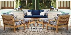 3 Pc Teak Sofa Set Garden Indoor Outdoor Patio Furniture Pool Sack Dining Deck