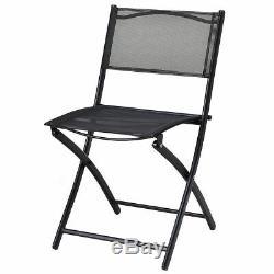 3 Piece Bistro Set Table Folding Chairs Garden Backyard Patio Outdoor Furniture