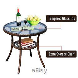 3pc Outdoor Patio Rocking Chair Set Coffee Table Bistro Set Garden Furniture
