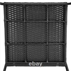 3pcs Rattan Rocking Bistro Set Outdoor Wicker Conversation Set Patio Furniture