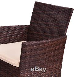 4PCS Outdoor Patio PE Rattan Wicker Table Shelf Sofa Furniture Set With Cushion