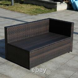 4PCS Patio Furniture Sectional Sofa Set Outdoor Dining Set Rattan Table & Chairs