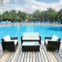 4PCS Patio Rattan Chair Wicker Set Sectional Sofa Couch Outdoor Furniture