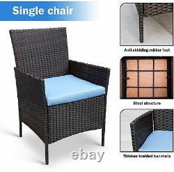 4PCS Wicker Furniture Outdoor Rattan Sofa Table Garden Conversation Patio Set