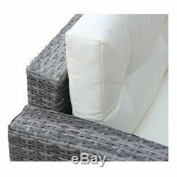 4 PCS Sectional Rattan Wicker Sofa Set Patio Garden Cushioned Outdoor Furniture