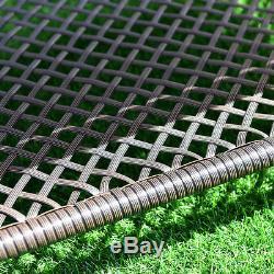 4 PC Furniture Set Outdoor Patio Garden Sectional PE Wicker Rattan Cushion Deck