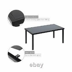 4 Pcs Outdoor Lawn Garden Patio Furniture Bistro Set With Steel Loveseat Black