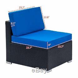 4 Pcs Patio Rattan Wicker Sofa Set Yard Garden Furniture Outdoor Sectional Couch