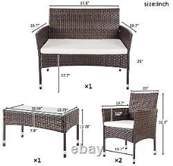 4 Piece Outdoor Patio Furniture Set