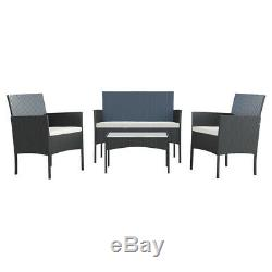 4 Piece Patio Furniture Sets Outdoor Conversation Set Pool Backyard Lawn Use