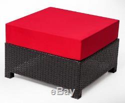 5PC Deluxe Outdoor Garden Patio Rattan Wicker Furniture Sectional Sofa Chair6080