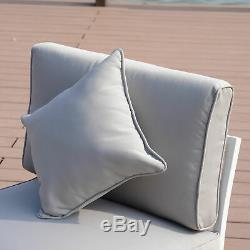 5PC Patio Garden Sofa Set Sectional Furniture Outdoor Couch With Cushion Lawn Grey
