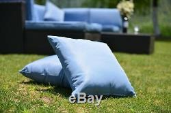 5 PCS Patio Furniture Sectional Sofa Set Outdoor Rattan Wicker Sofa Cushions New