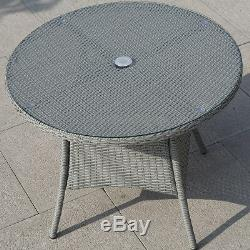 5 PCS Patio Furniture set Outdoor Rattan Dining Table Chair Cushion Indoor