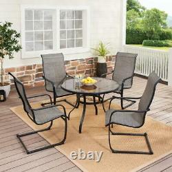 5 Piece Patio Dining Set Outdoor Garden Table Chairs Bistro Furniture Lawn Yard