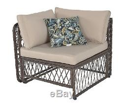5 pcs Outdoor Patio Furniture Wicker Sofa Set Rattan Sofa Garden Sectional Set