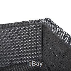 5pc Rattan Wicker Sofa Outdoor Patio Furniture Set Garden Deck Sectional Set