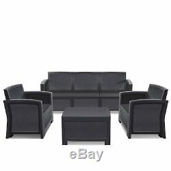 6PC Outdoor Patio Sectional Furniture PE Wicker Rattan Sofa Set Deck Couch