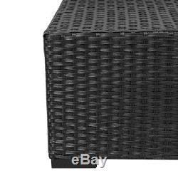 7PC Outdoor Wicker Sofa Set Patio Rattan Sectional Furniture Garden Deck Couch