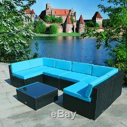 7PC Rattan Wicker Sofa Outdoor Patio Sectional Furniture Set Couch Garden