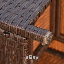 7 PCS Outdoor Rattan Wicker Furniture Set Sectional Cushioned Seat Garden Patio