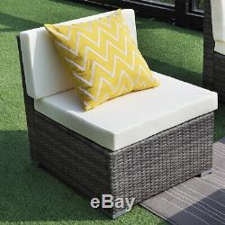 7 Pc Outdoor Patio Furniture Set Wisteria Lane Porch Sectional Wicker Sofa US