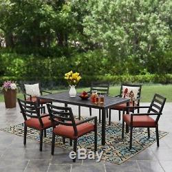 7-Piece Outdoor Patio Dining Set Backyard Garden Furniture Chairs Table Yard