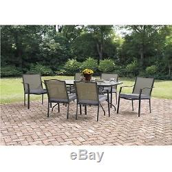 7 Piece Patio Dining Set Chairs Garden Outdoor Furniture BackYard Modern Set