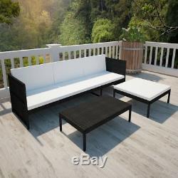 9 Pcs Outdoor Wicker Sofa Set Patio Rattan Sectional Furniture Garden Deck Couch