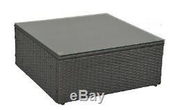 9 Pcs Patio Rattan Sofa Furniture Wicker Outdoor Sectional Sofa Set Cushioned