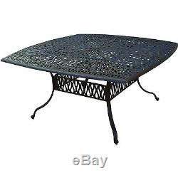 9 piece patio dining set cast aluminum outdoor furniture Elisabeth table seats 8