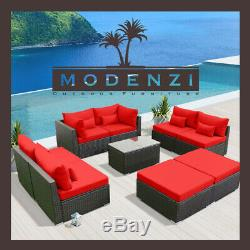 9pc Outdoor Patio Furniture Sectional Rattan Wicker Sofa Chair Couch Set xx