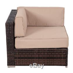 9pc Outdoor Patio Rattan Wicker Sofa Sectional Furniture Set Chaise Lounge Table