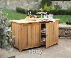 A Grade Teak Bar Chest Cabinet Teak Garden Outdoor Patio Pool Furniture New