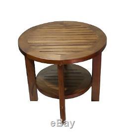 Ala Teak Indoor Outdoor Patio Garden Yard Bath Coffee Side Round Table