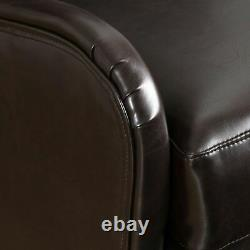 Alden Leather High Back Wingback Armchair