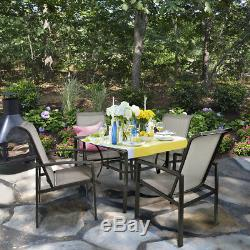 Barton 5-Piece Outdoor Patio Dining 1 Table and 4 Chairs Set Outdoor Furniture