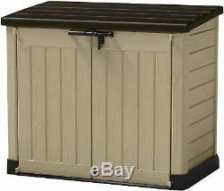 Bin Storage Box Garden Outdoor Patio Furniture Plastic Shed Lockable Extra Large