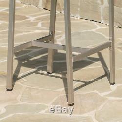 Capral 30-Inch Outdoor Grey Wicker Barstools (Set of 2)