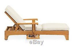 Caranas Grade-A Teak Chaise Lounger Sun Outdoor Garden Patio Steamer Furniture