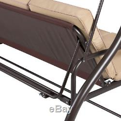 sc 1 st  Outdoor Patio Furniture & Converting Outdoor Swing Canopy Hammock Seats 3 Patio Deck Furniture Tan
