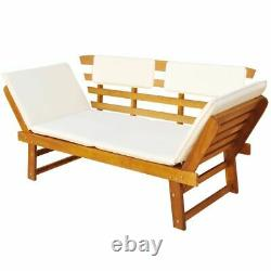 Garden Day Bed with Cushion Outdoor Patio Bench Sun Lounge Chair Furniture Set