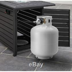 Gas Fire Pit Smokeless Propane Table Deck Patio Furniture Outdoor Adjustable